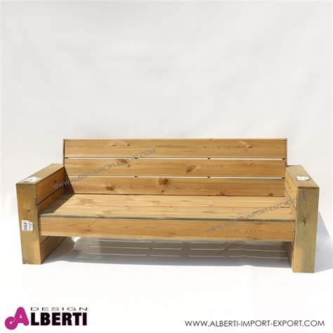 divano legno divano in legno per esterno 198x75xh42 82 cm