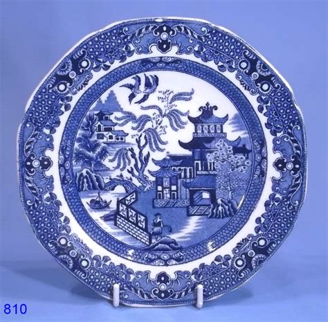 willow pattern english china burleigh ware vintage old willow tea plate collectable china