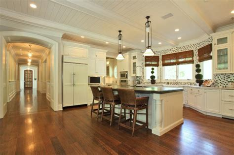 Kitchens With Bars And Islands Kitchen Island With Bar Stools 2 Hooked On Houses