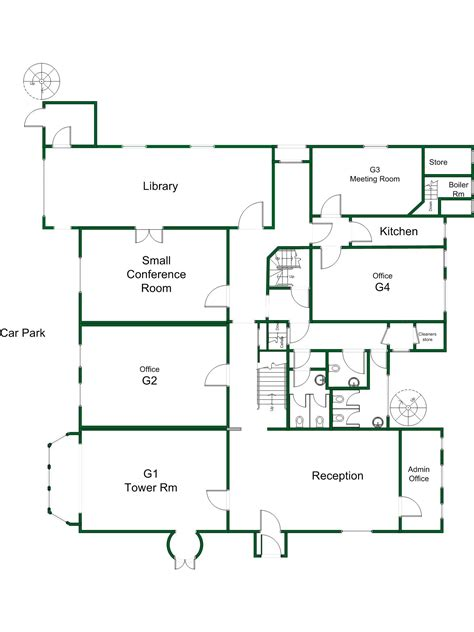 ground floor plan of the active business centre