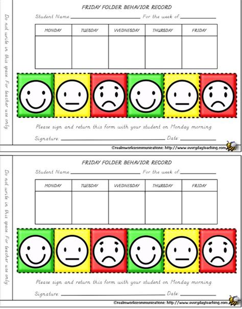 smiley behavior chart template smiley behavior charts for weekly the classroom
