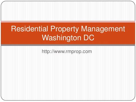 Property Management Washington Dc Residential Property Management Washington Dc