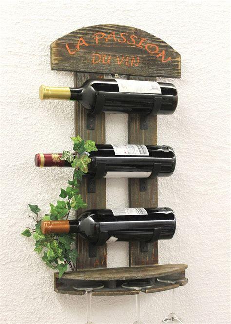 mensola bar portabottiglie vino mensola 5091 di legno 60 cm bar