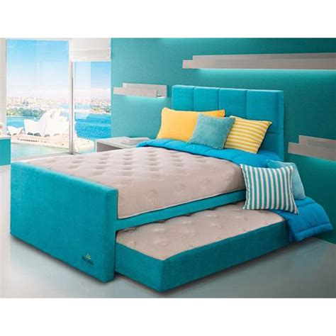 Springbed 2in1 Guhdo Ukuran 100x200 Set Atas Bawah Plus Sandaran jual therapedic thera 2 in 1 sliding mattress turqoise kasur springbed set 120x200
