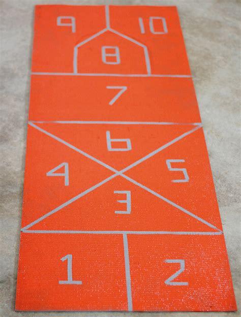 diy mat turned hopscotch mat cosmo cricket