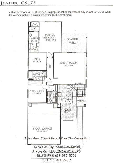 juniper floor plan find sun city grand juniper floor plans leolinda bowers