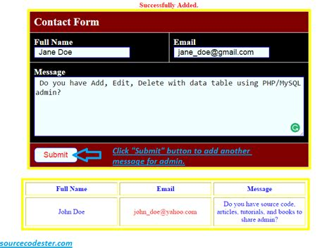 tutorial php contact form how to create contact form using php free source code