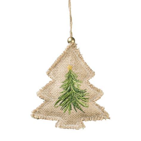 5 quot jute embroidery christmas ornament tree xsj6317