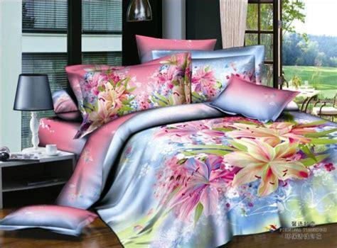Pink And Blue Comforter by Blue Pink Purple Floral Bedding Set Duvet Cover