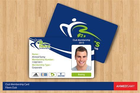 Member Id Card Template by Fibers Club Membership Card On Behance