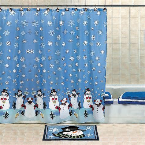 snowman shower curtain set snowman shower curtain gift search