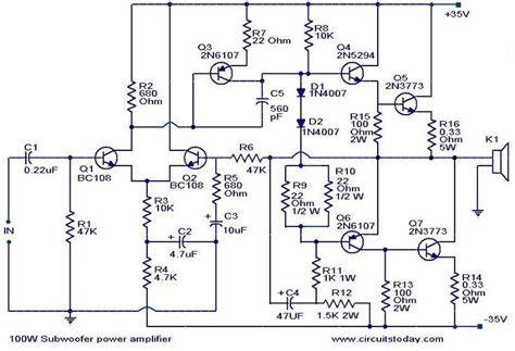 Kit Power Blazer Stereo 2x575 Watt Toshiba 100 w subwoofer lifier circuit lifier circuit diagram
