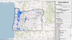 interactive map of oregon population of oregon census 2010 and 2000 interactive