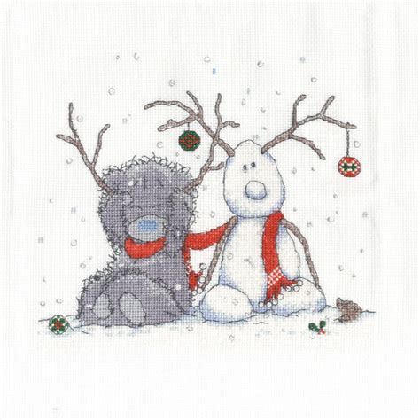 My Snowman Fiancee my snowman me to you cross stitch kit bl1098 72
