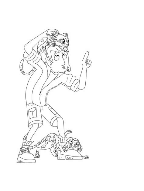 wild kratts coloring page cheetah cubs my free coloring