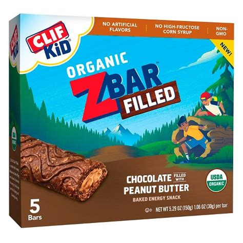 z protein bars clif kid zbar filled with chocolate peanut butter energy