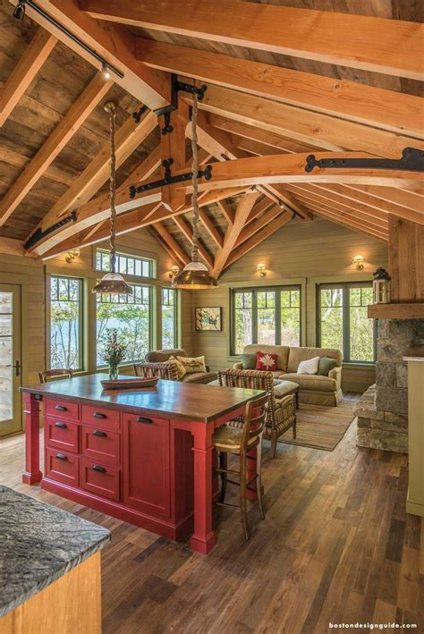 perfect lake house kitchen built  wood clay