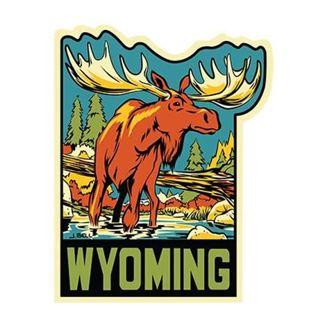 Wyoming Tourism Stickers 1000 images about travel stickers on luggage