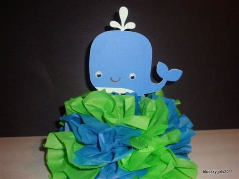 Whale Baby Shower Theme by Sea Themes Baby Shower Centerpiece Whale Centerpiece