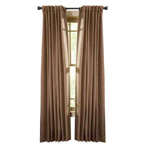 home depot curtain panels martha stewart living nutmeg thermal tweed back tab