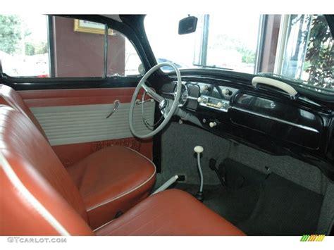 Interior Home Color Cognac Cream Interior 1961 Volkswagen Beetle Coupe Photo