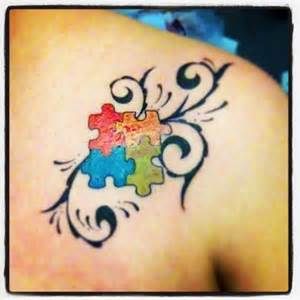 puzzle piece tattoo for autism tattoos puzzle piece