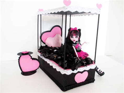 how to make a monster high bed how to make a draculaura doll bed tutorial monster high