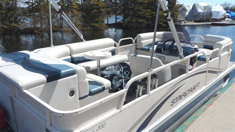 used pontoon boat trailers for sale ontario 2007 starcraft classic 200 pontoon boat for sale in the