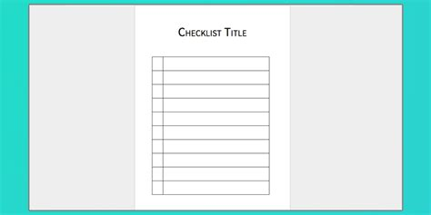 Download Your Free Microsoft Word Checklist Template Check Template For Word