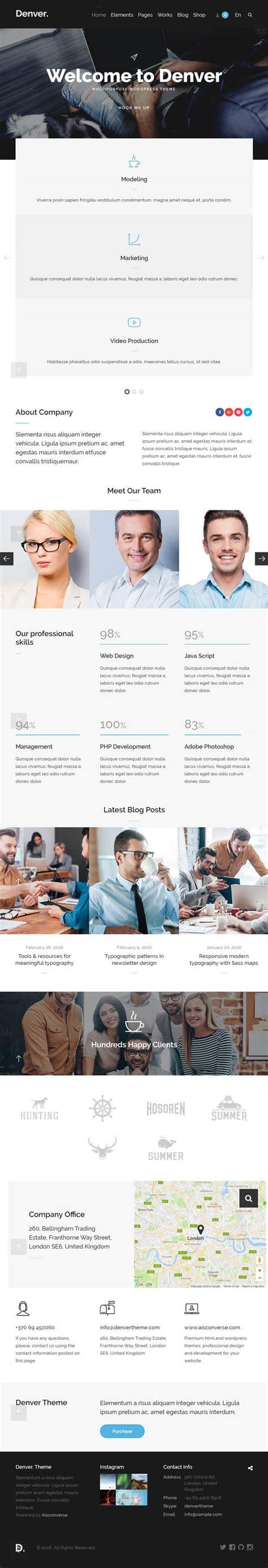 wordpress theme flexible layout denver flexible multipurpose wordpress theme wordpress