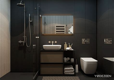 black toilet bathroom design 5 small studio apartments with beautiful design