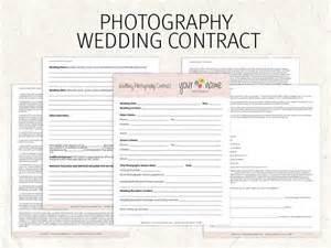 Wedding Florist Contract Template by Wedding Photography Contract Business Forms Flowers Editable