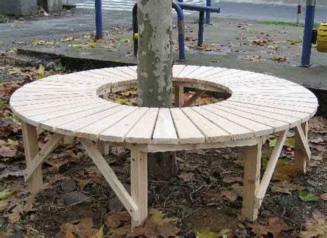 diy half circle bench circular tree bench