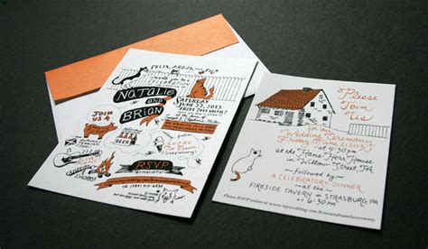 hand drawn wedding invitation samantha wittchen