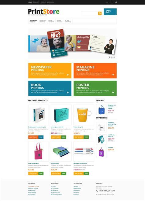 responsive print store prestashop theme 45065