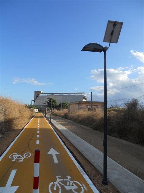 ufficio sta comune di cagliari illuminazione solare pista ciclabile a cagliari con i