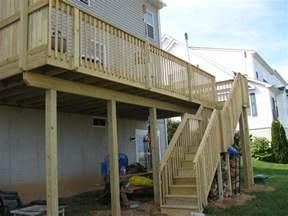 pressure treated wood deck in seven valleys pa stump s decks