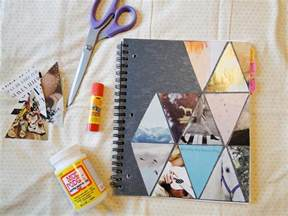 diy notebook decoration pie n the sky triangle diy