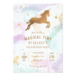 unicorn birthday invitation templates pastel unicorn birthday invitation zazzle