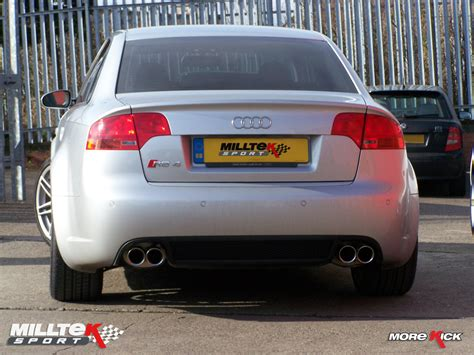 Audi Rs4 V8 by Audi Rs4 V8 With Milltek Tailpipes