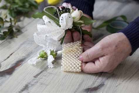 Handmade Corsage - diy flower wrist corsage the bijou