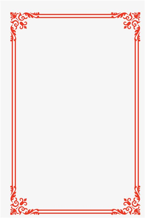 european lace red festive year frame border vector