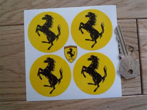 Ferrari Aufkleber by Ferrari Circular Prancing Horse Stickers Set Of 4 22mm