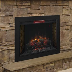 flush mount fireplace classicflame 33 in infrared fireplace insert flush mount