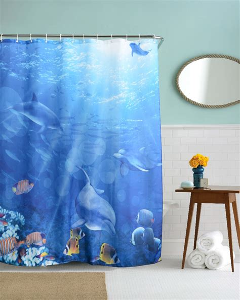 Bathroom Dolphin by Dolphin Shower Curtain Hooks Promotion Shop For