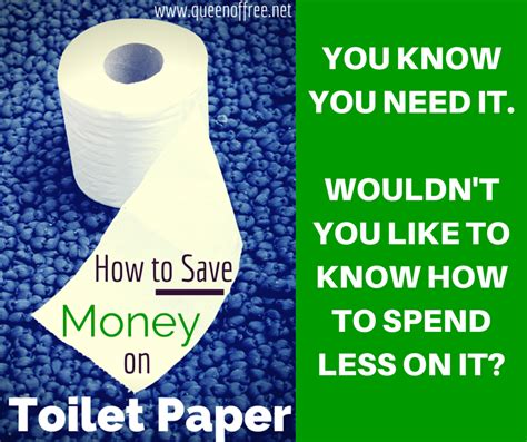 Save Tissue how to save money on toilet paper of free