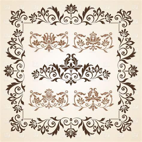 design elements vector vintage set of brown vintage design element royalty free vector