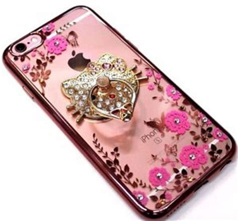 Casing Hp Unik Mirror Gold Iphone 55s 66 for iphone 6 6s plus gold trim bling hello ring silicone ebay