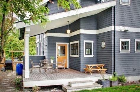 blue house orange door grey house and orange door on pinterest