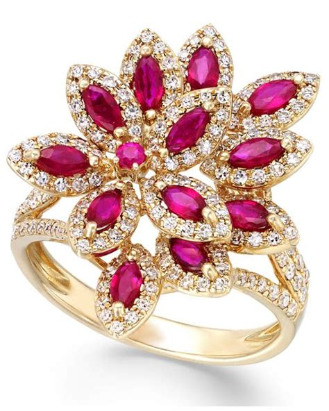 effy collection ruby royale by effy ruby 1 3 8 ct t w